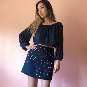 The Fifth Label Midnight Crop Blouse